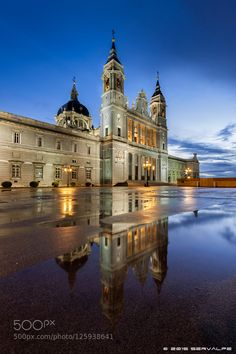 Blue Hour @ Almudena Cathedral #1 by servalpe #Architecture #fadighanemmd