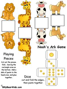Noah's Ark Board Game Love these figures for the banners Sunday School Activities, Church Activities, Bible Activities, Sunday School Lessons, Sunday School Crafts, Bible Games, Bible Story Crafts, Bible Crafts For Kids, Preschool Bible