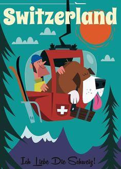 Retro Illustration, Illustrations, Book Images, Art Images, Ipad Art, Lunar Chronicles Books, Dazzle Camouflage, Vintage Ski Posters, Train Posters