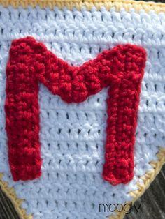 The Moogly Crochet Alphabet - Say It With Free Crochet Letter Patterns! Crochet Alphabet Letters, Crochet Letters Pattern, Applique Letters, Letter Patterns, Moogly Crochet, Hand Crochet, Crochet Hooks, Free Crochet, Spiral Crochet