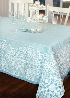 Glisten lace tablecloth..