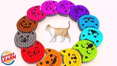 Learning Colors with Cat Shapes and Cat Lollipops Color for Kids and Children Learning Colors, Lollipops, Coloring For Kids, Nursery Rhymes, Crochet Earrings, Shapes, Marketing, Children, Cats