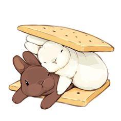 Cute Kawaii Animals, Cute Animal Drawings Kawaii, Cute Little Drawings, Cute Little Animals, Kawaii Art, Cute Funny Animals, Cute Drawings, Arte Copic, Cute Baby Bunnies
