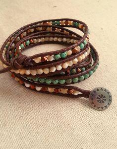 Burning Man boho wrap bracelet by HeathersBracelets on Etsy, $50.00