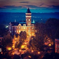 Clemson University - Less than 30 minutes from The Reserve at Lake Keowee Clemson Football, Clemson Tigers, Auburn Tigers, College Campus, College Life, Dream School, And So It Begins, Alma Mater, Death Valley