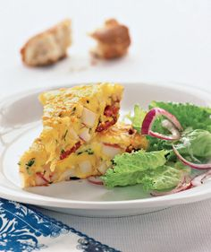Spanish Omelet With Potatoes and Chorizo | Need some quick dinner ideas? Try one of these speedy recipes that take just 15 minutes or less of hands-on work.