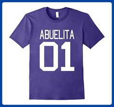 Mens Abuelita T-shirt Dia de las Madres la Mejor Mama Del Mundo 2XL Purple - Relatives and family shirts (*Amazon Partner-Link)