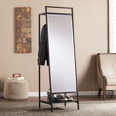 Latitude Run Mirror and Hidden Coat Rack