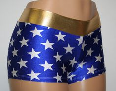 Wonder Woman Cosplay Booty Shorts by Dilly Duds™  Toddler, Adult, Plus Sizes Available.  Great for Rollerblade, Running, Raves, Cosplay, Halloween, Comic-Cons and so much more! https://www.etsy.com/shop/DillyDuds