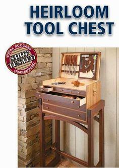 Ah! E se falando em madeira...: suporte + caixa de ferramentas