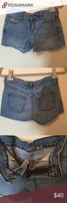 J.Crew jean shorts Size 25 jcrew jean shorts with frayed bottoms J. Crew Shorts Jean Shorts