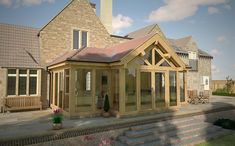Cottage Extension, House Extension Design, Extension Designs, Orangery Extension, Garden Room Extensions, House Extensions, Kitchen Extensions, Bungalow Conversion, Oak Framed Extensions