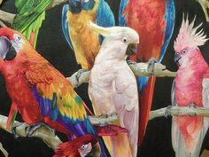 Parrot wallpaper http://www.wowwallpaperhanging.com.au/parrot-wallpaper/