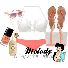 Melody A Day at the Beach Disney Inspired Fashion, Disney Fashion, Cute Fashion, Disney Bound Outfits, Girly Outfits, Cute Outfits, Disney Bathing Suit, Disney Style, Disney Dream