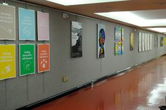 Some 200 feet of exhibition space was filled with The Art of Public Health posters.