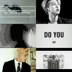Do You/black and white BTS rapmon aesthetic