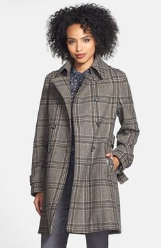 Free shipping and returns on DKNY 'Avery' Plaid Double Breasted Trench Coat at Nordstrom.com. A soft, neutral-hued plaid creates preppy appeal for a classically styled trench coat crafted from a warm wool-infused blend.