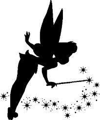tinkerbell clip art silhouette - Google Search (mug rug)