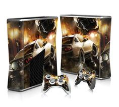 Ford Mustang Shelby sticker skin for Xbox 360 slim - Decal Design