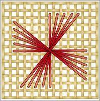 pinwheel Rhodes stitch