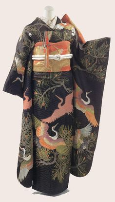 Furisode fitted for young lady at new years.