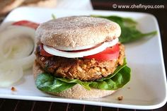 Garden Burgers        1 medium Zucchini, grated      1-1/4 tsp Salt      1/2 cup TVP (see Tips)      1/3 cup hot water      3 tbsp Olive oil      1 medium Onion, chopped      8 Cremini Mushrooms, thinly sliced      1 tbsp Tomato paste      2 tbsp Balsamic Vinegar      1-1/2 cups cooked Chickpeas      4 Egg whites, slightly beaten (see Tips)      1 cup cooked Brown Rice      2 tbsp roughly chopped fresh Cilantro