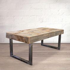 Coffee Tables - Reclaimed Wood Coffee Table, Tube Steel Legs - Free Shipping - JW Atlas Wood Co. - 5