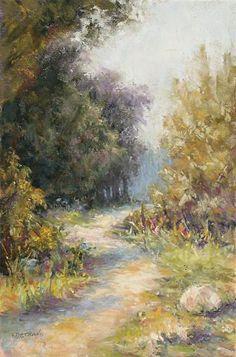 The Field Sketch That Got Away by Kathy Detrano Pastel ~  x