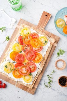This herb and goat cheese tomato tart is the very picture of freshness.