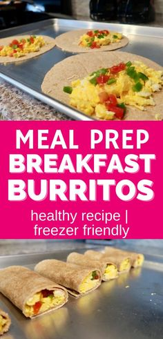 Meal prep breakfast burritos are easy to make and perfect for a healthy breakfast option! You can store them in the refrigerator or you can turn these into a freezer breakfast recipe and pull them out later as needed. You'll love these make ahead breakfast burritos! (sponsored) Make Ahead Breakfast Burritos, Healthy Breakfast Options, Make Ahead Meals, Freezer Meals, Egg Burrito, Delicious Food, Refrigerator, Crock Pot, Meal Prep