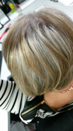 Blonde highlights for gray hair heres a good idea to camouflage blonde highlights for gray hair heres a good idea to camouflage gray hair with blondegray ish highlights upkeep would be easier if the highli pmusecretfo Images