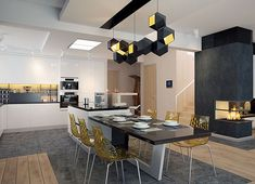 Projekt domu Karat 2 162,51 m² - koszt budowy - EXTRADOM Modern Family House, Modern House Design, Mediterranean Style Homes, Architect House, Facade House, Bungalow, House Plans, Construction, Furniture