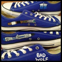 ebfc2f85c310 Dr. Who Custom Hand Painted Converse Shoes by CandysCustomPaints Painted  Converse