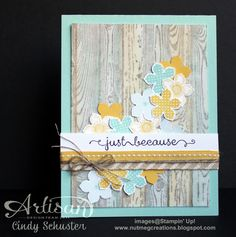 Petite Petals Hardwood Card by Cindy Schuster