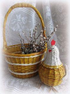 Поделка изделие Пасха Плетение Пасхальные плетения Клей Краска Салфетки Трубочки бумажные Фетр фото 1