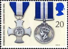 Royal Mail Special Stamps   Gallantry Distinguished Service Cross. Distinguished Service Medal