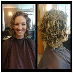 Curly Haircut by: Nate Mael | www.BeInspiredSalon.com | 608.271.2771