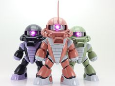 Exceed model zaku head + HG acguy or bearguy