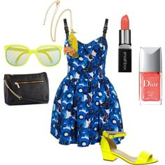 """""""Blue and Yellow"""" by kandyzz on Polyvore"""