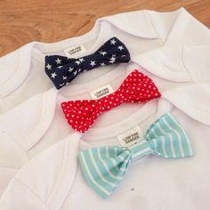No-Sew Baby Bow Tie Onesie Tutorial http://www.projectpeanut.com.au/2014/04/diy-no-sew-baby-bow-tie-onesie.html