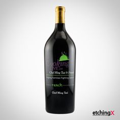 An etched wine for a charity auction is truly a great way to fundraise. Cheers to Ming Tsai & Friends for caring.