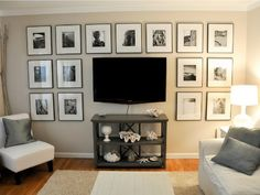 9 Brilliant Ways to Decorate Around a TV..... Love the pictures around the TV