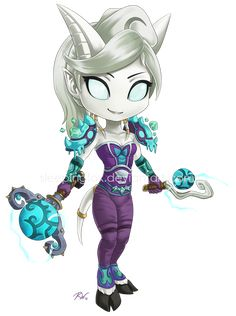Charming draenei with a simple but nicely coordinated outfit
