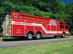 Rescue One/Spartan-Howell Township Fire District No. 3, Southard, NJ, 27-foot walk around heavy rescue