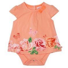 Baker by Ted Baker Babies orange rose print bodysuit | Debenhams
