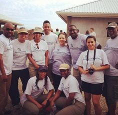 Our Missions team sharing God's love to the precious people in Haiti w/ friends @Samaritan's Purse.