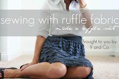 ruffle fabric skirt