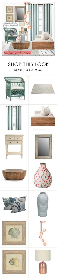 """Beach House"" by kristennevanss on Polyvore featuring interior, interiors, interior design, home, home decor, interior decorating, Royal Velvet, J. Hunt, Arteriors and Tom Dixon"