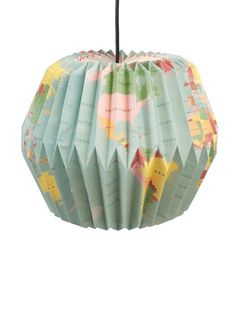 Vintage Style World Map Paper Lampshade - children's room accessories Globe Vintage, Vintage World Maps, Shabby Vintage, Lego Storage Boxes, Kids Room Lighting, Children's Lighting, Globe Crafts, Origami Lamp, Origami Paper