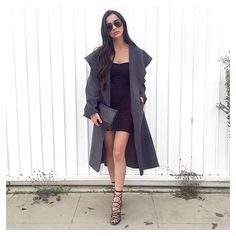 @xoalyynicole wears our ZENA waterfall coat £22 free delivery. SHOP HERE: http://www.wearall.com/zena-open-belted-trench-jacket